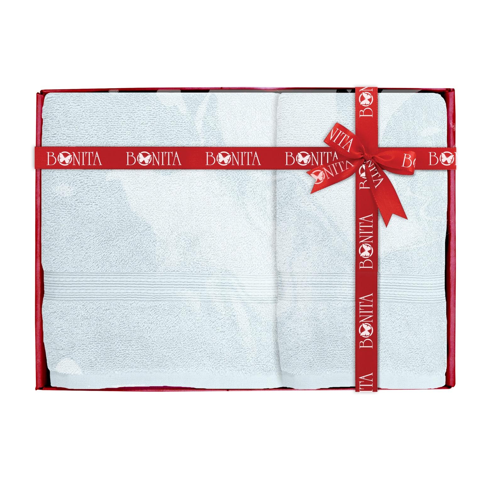 Полотенце банное Bonita Classic махровое, 21011218281, голубой, 2 шт набор полотенец bonita французская сирень 45 х 60 см 3 шт