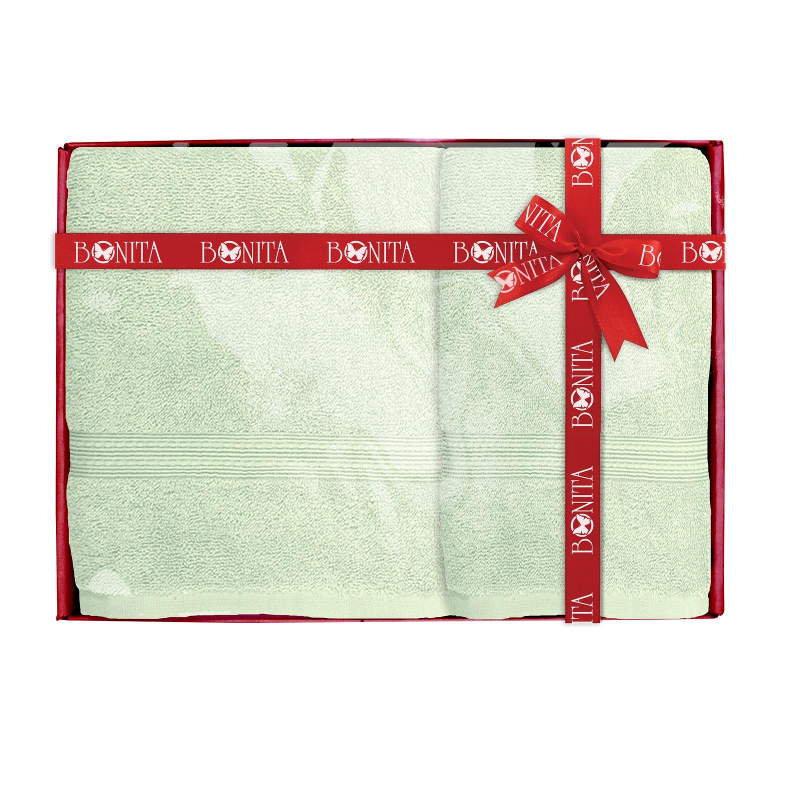 Полотенце банное Bonita Classic махровое, 21011218283, мятный, 2 шт комплект из 2 махровых банных полотенец из биохлопка
