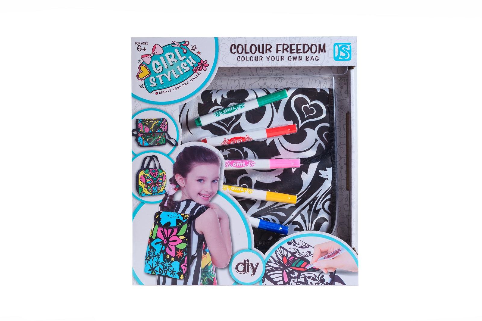 Набор для росписи по ткани S+S Toys рюкзак + 5 фломастеров, 100891959 игровой набор s s toys мельница пингвин eq80019r не разлей вода