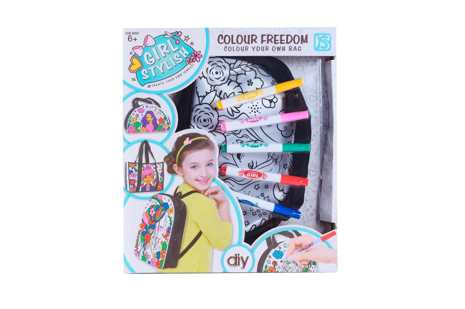 Набор для росписи по ткани S+S Toys сумка + 5 фломастеров игровой набор s s toys мельница пингвин eq80019r не разлей вода