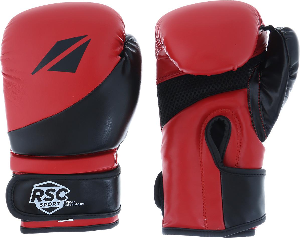 Перчатки боксерские RSC PU Flex BF BX 023, 00026566, красный, черный, вес 8 унций шлем боксерский rsc pu bf bx 208 00026585 красный размер xl