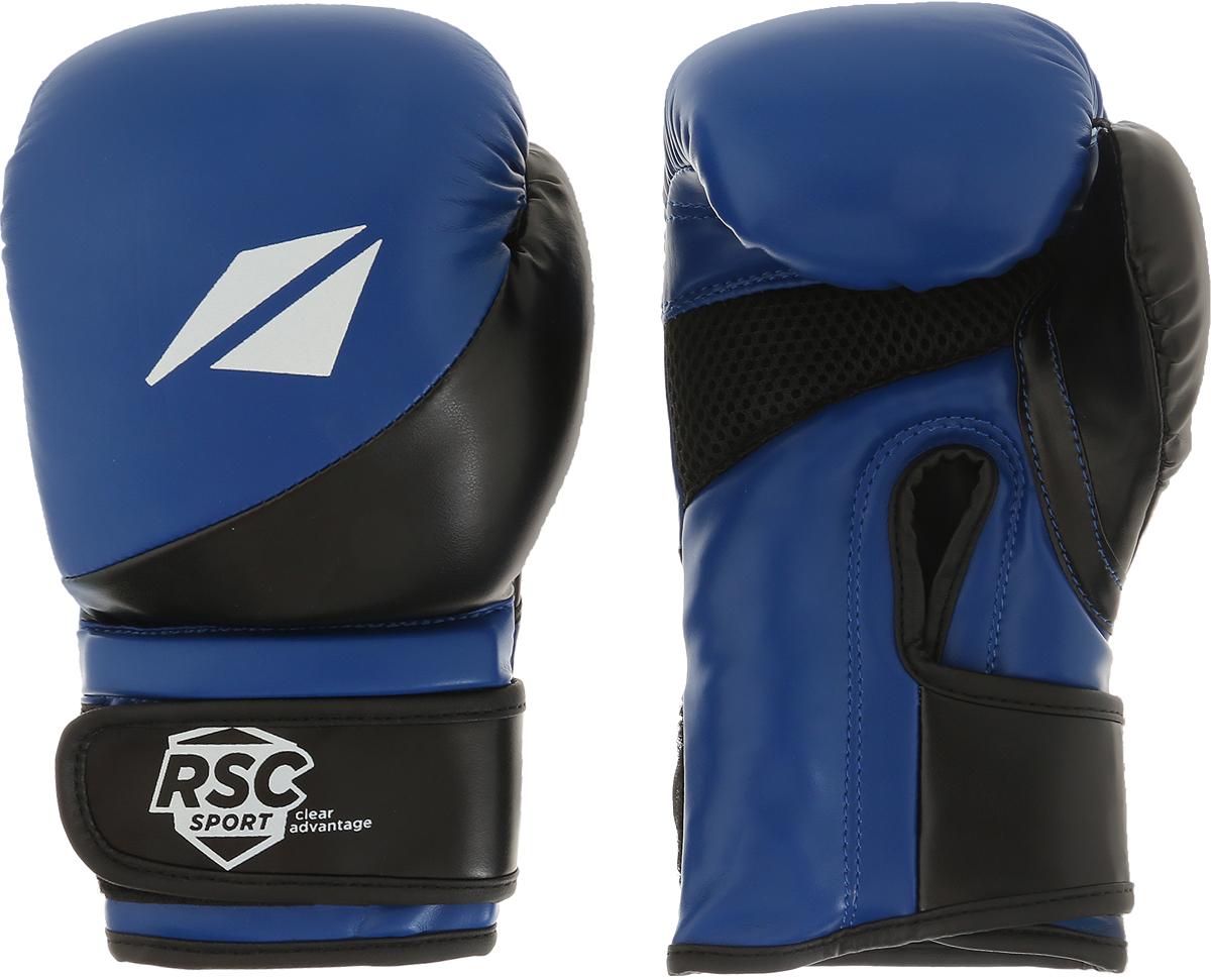 Перчатки боксерские RSC PU Flex BF BX 023, 00026605, синий, черный, вес 8 унций шлем боксерский rsc pu bf bx 208 00026585 красный размер xl