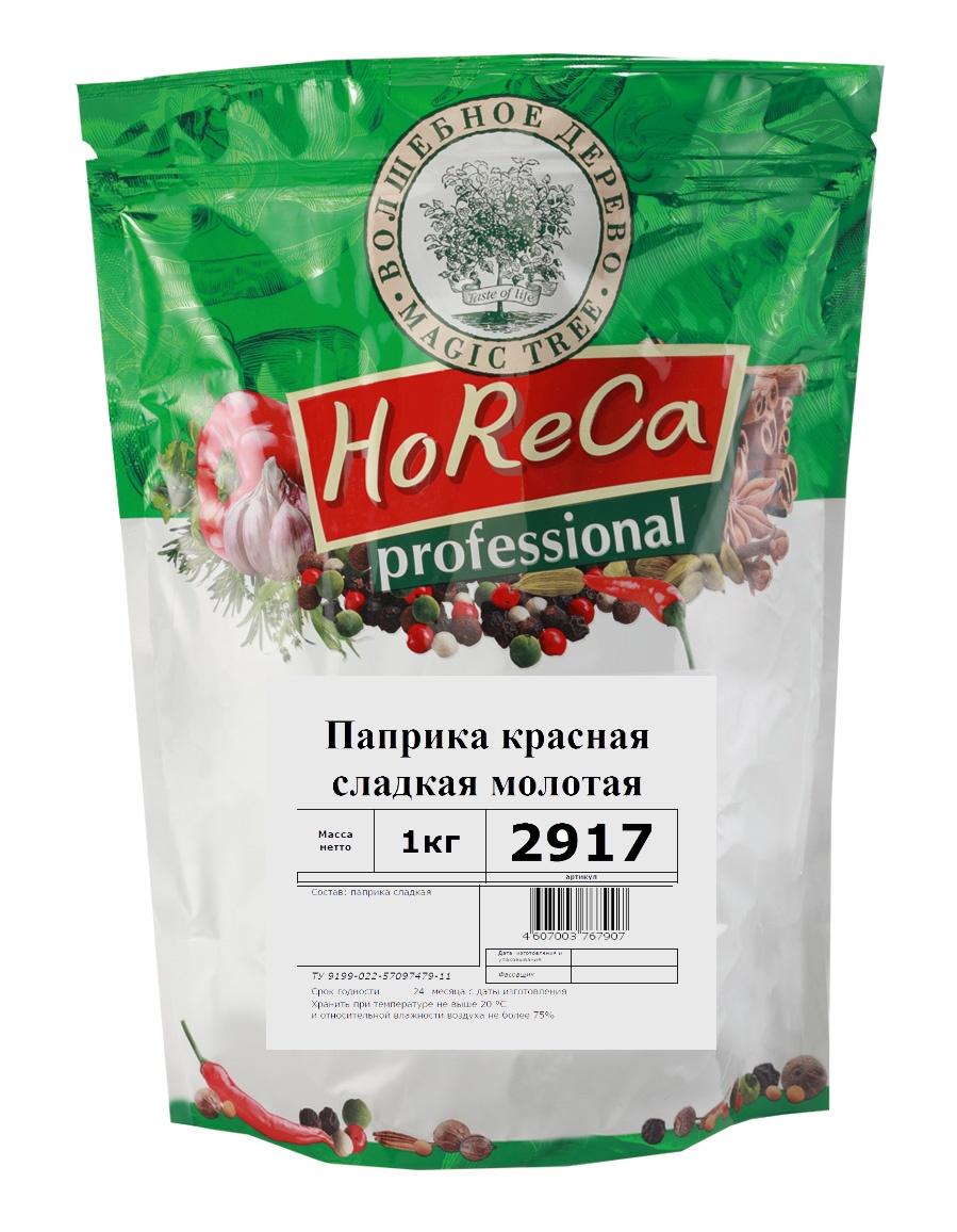 Фото - Паприка красная сладкая (молотая) Волшебное дерево HORECA, 1 кг пудовъ паприка красная сушеная молотая 80 г
