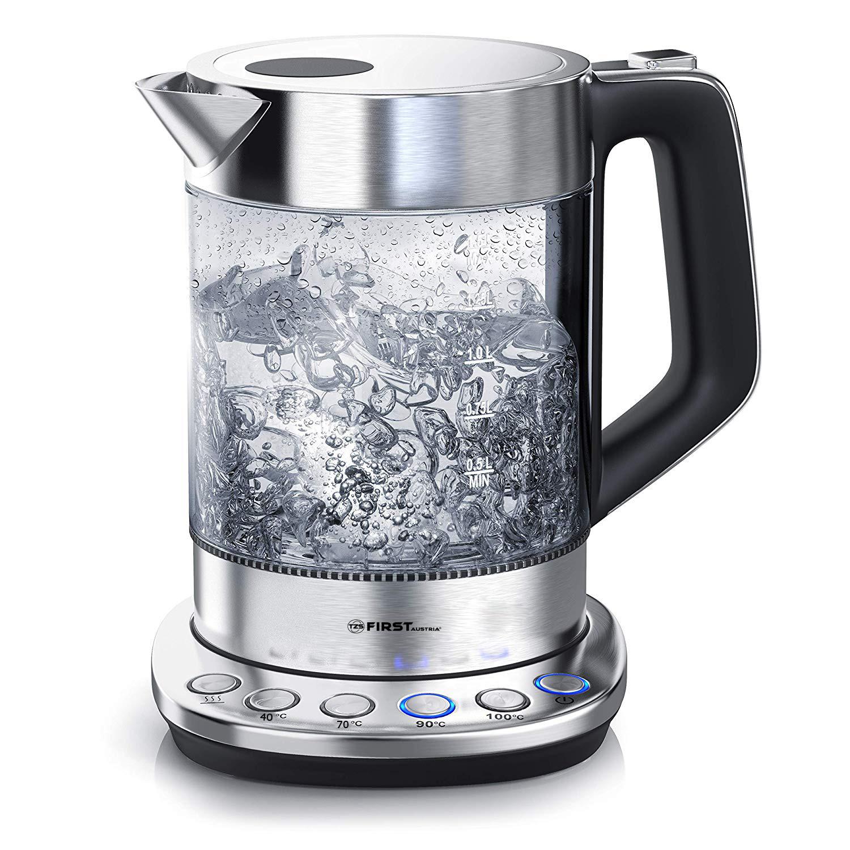 Электрический чайник First FA-5405-5 Stell чайник first fa 5427 8 bu 2200 вт белый синий 1 7 л пластик