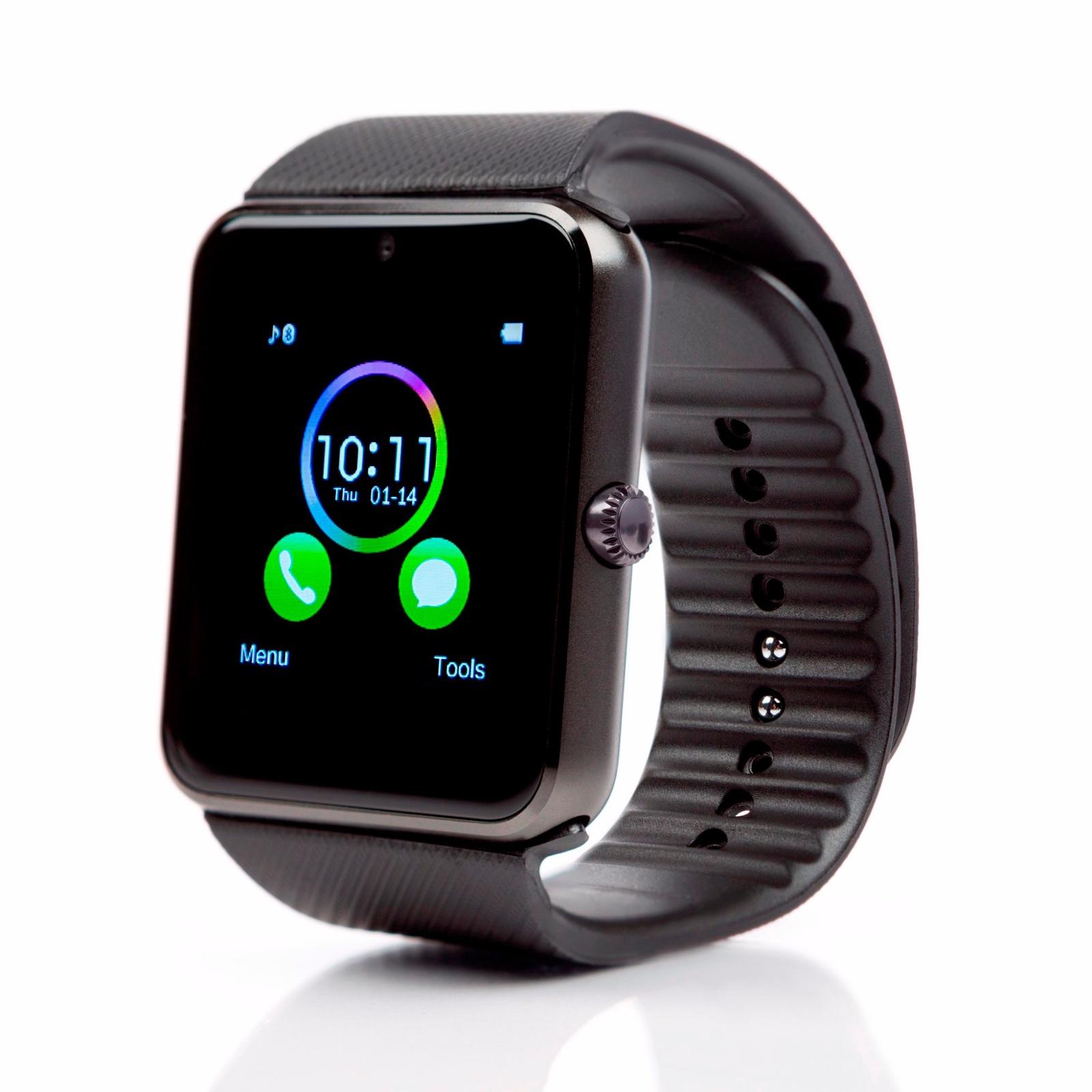 Умные часы Zdk GT08 (Android, IOS, Динамик, Микрофон, SIM, MicroSD, Черный) умные часы zdk gt08 silver
