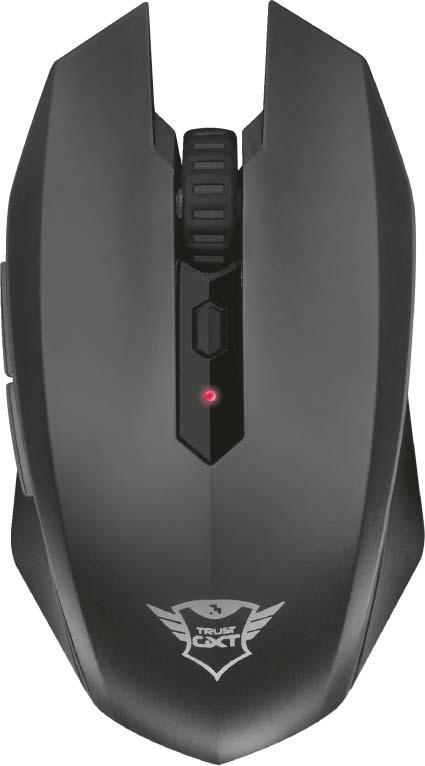 Игровая мышь Trust GXT 115 Macci, беспроводная, цвет: черный, серый