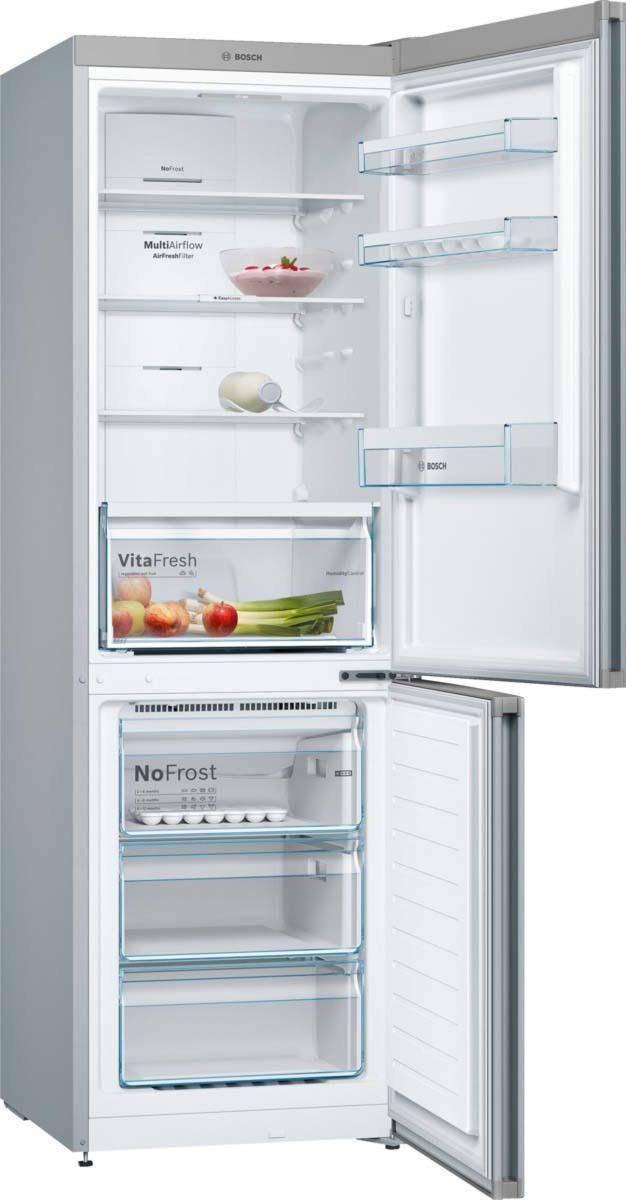 Холодильник Bosch KGN36VL2AR, серый металлик Bosch
