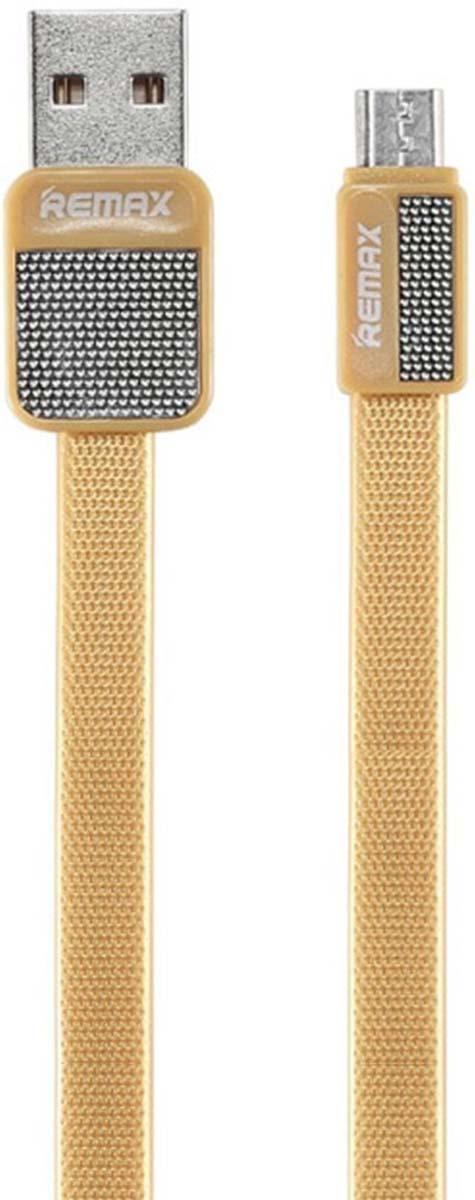 Кабель Remax Platinum USB - micro USB, 1 м, 23272, золотой