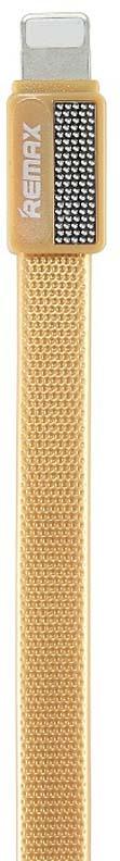 Кабель Remax Platinum Lightning, 1 м, 23275, золотой