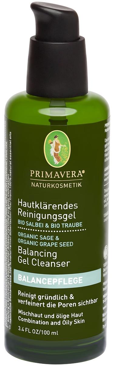 Primavera LifeОчищающий гель для лица с шалфеем и виноградом, 100 мл Primavera Life