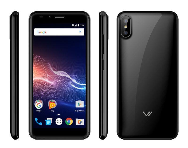 цена Смартфон Vertex Impress Click NFC 3G 1/8GB black онлайн в 2017 году