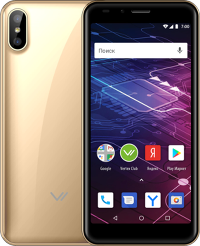лучшая цена Смартфон Vertex Impress Click NFC 3G 1/8GB gold