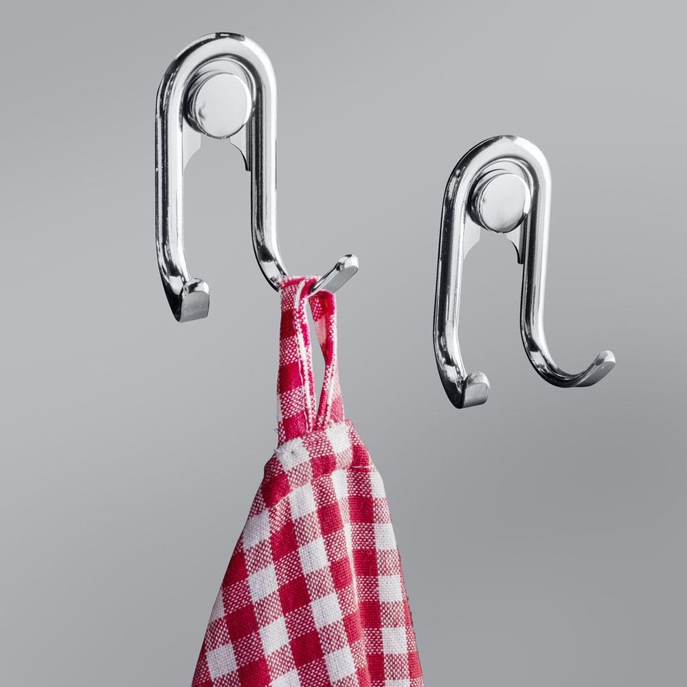 Крючки ХИТ-декор Style двойные, 06199, 2 шт комплект настенных часов хит декор для ванной комнаты 2 шт