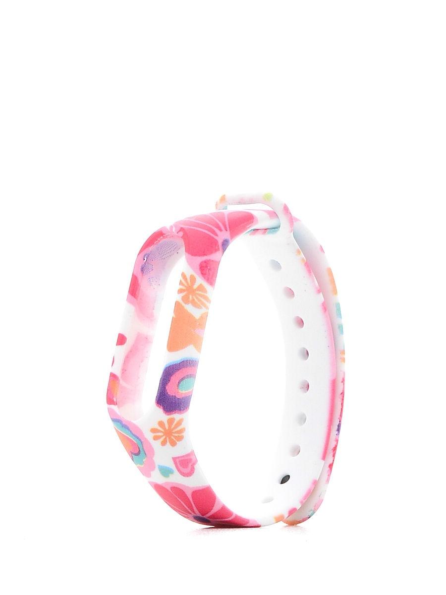 Ремешок TipTop Розовые Цветы для Xiaomi Mi Band 2, CA6654S, розовый невидимка для волос funny bunny розовые цветы 2 шт