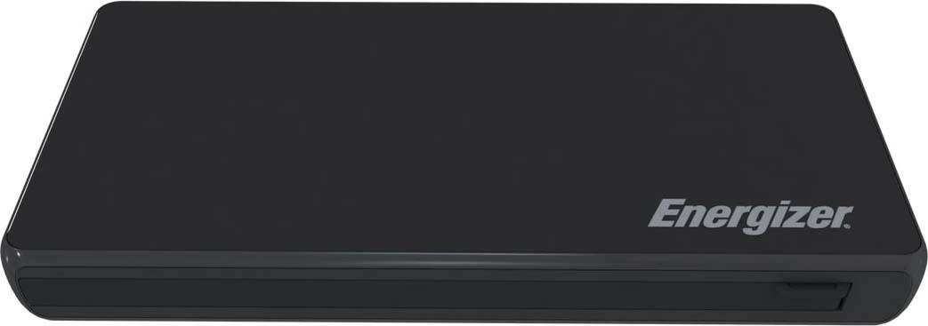 Внешний аккумулятор Energizer Power Bank UE10016CQ, 10000 mAh, black внешний аккумулятор hama premium alu 12000 mah qualcomm quick charge 3 0 gold