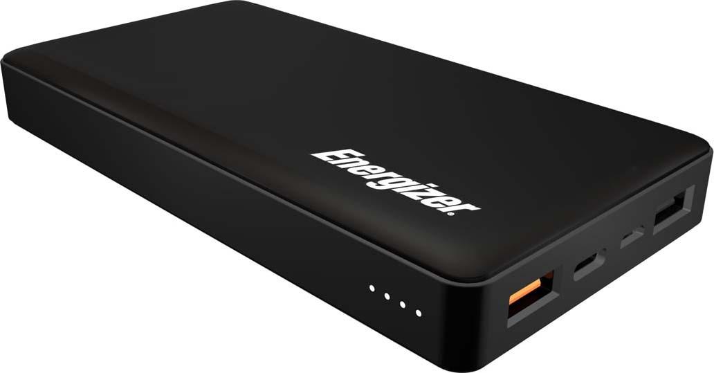 Внешний аккумулятор Energizer Power Bank UE15002CQ, 15000 mAh, QC 3.0, black цена