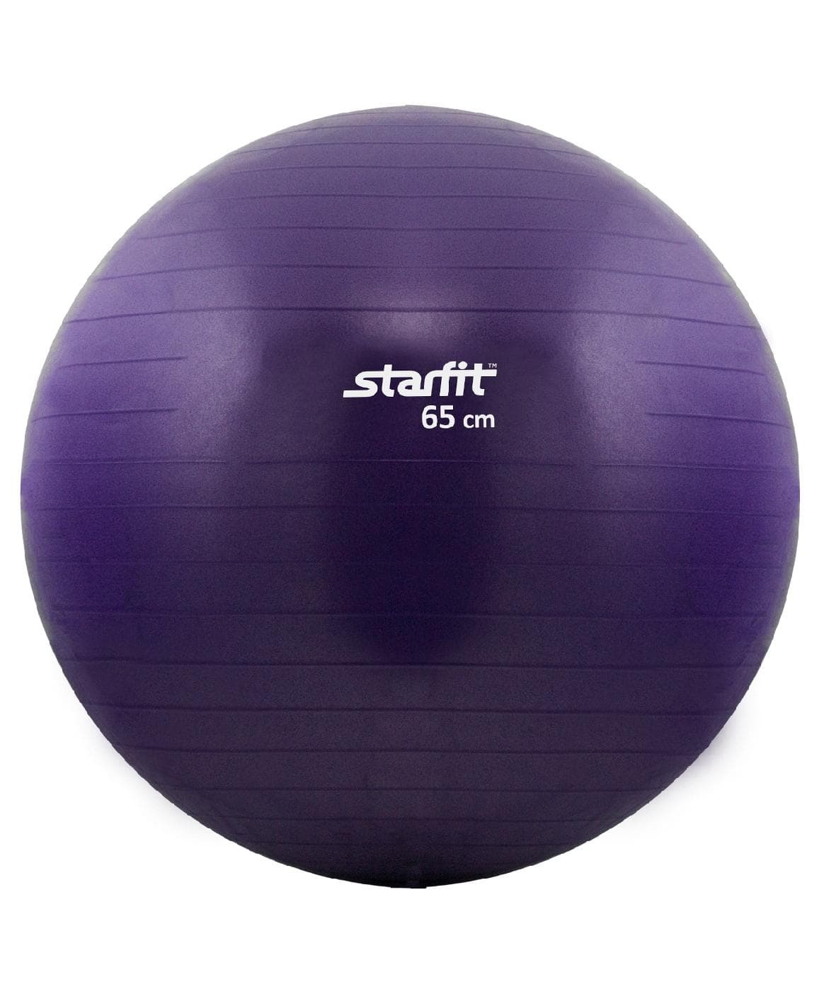 Мяч для фитнеса Starfit Мяч гимнастический GB-101 65 см, антивзрыв, фиолетовый мяч для фитнеса starfit мяч для пилатеса фиолетовый