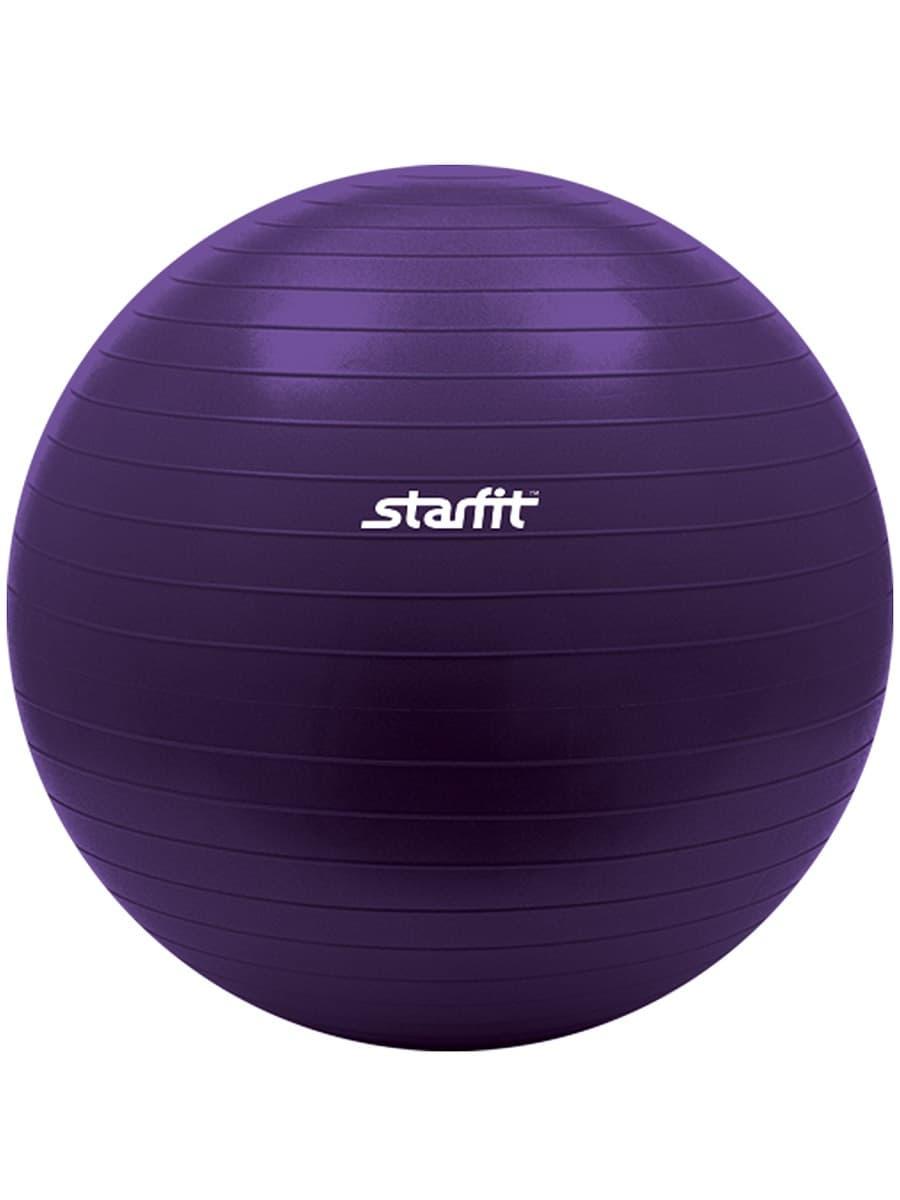 Мяч для фитнеса Starfit Мяч гимнастический GB-101 55 см, антивзрыв, фиолетовый мяч для фитнеса starfit мяч для пилатеса фиолетовый