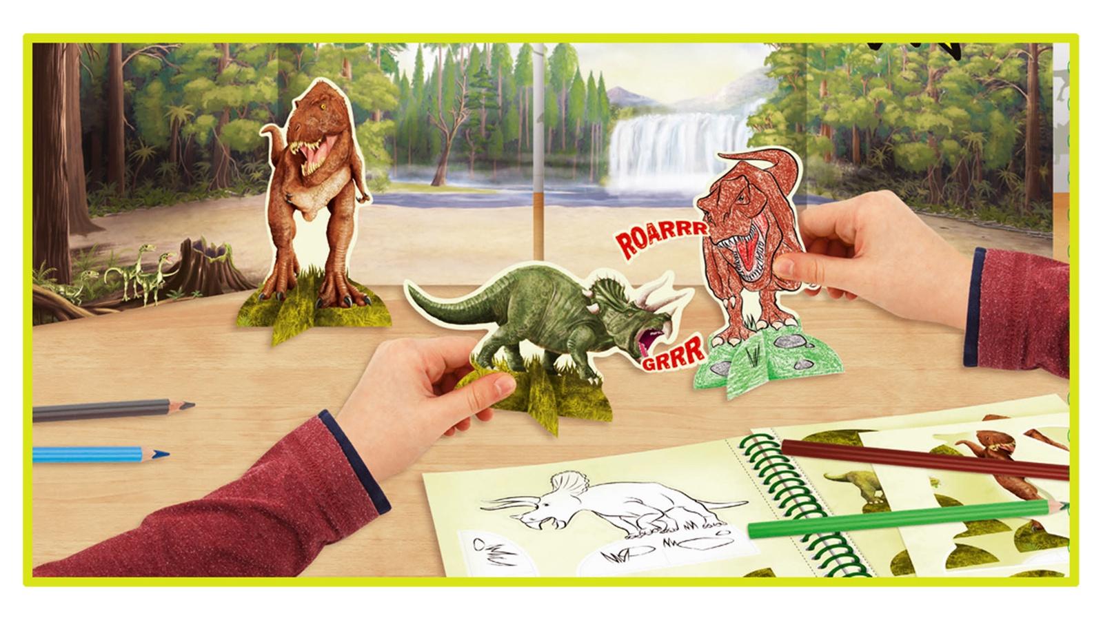 Книга-раскраска Depesche Dino World