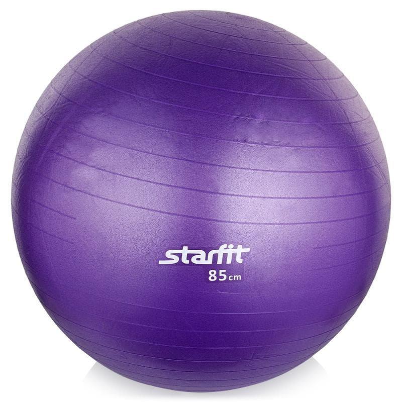 Мяч для фитнеса Starfit Мяч гимнастический GB-101 85 см, антивзрыв, фиолетовый мяч для фитнеса starfit мяч для пилатеса фиолетовый