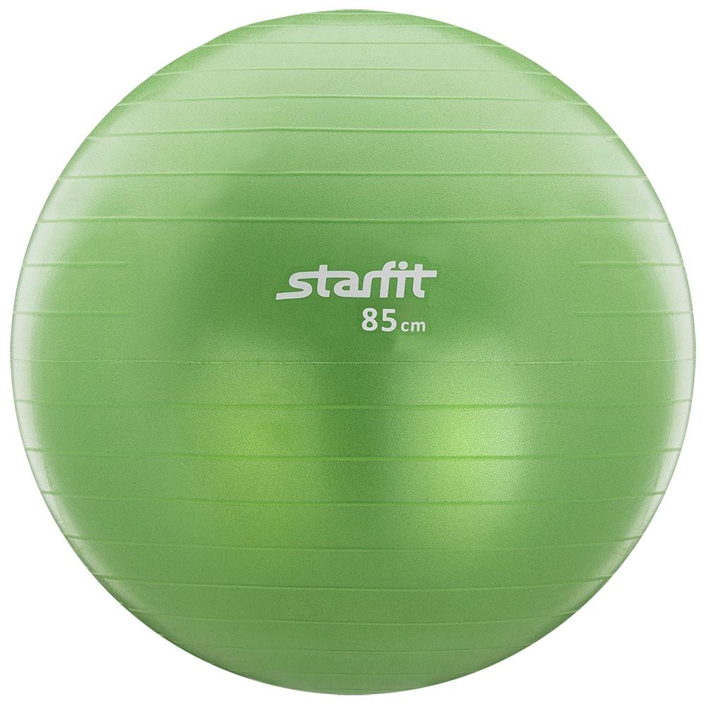 Мяч для фитнеса Starfit Мяч гимнастический Starfit GB-101 85 см, антивзрыв, зеленый мяч для фитнеса starfit мяч для пилатеса фиолетовый