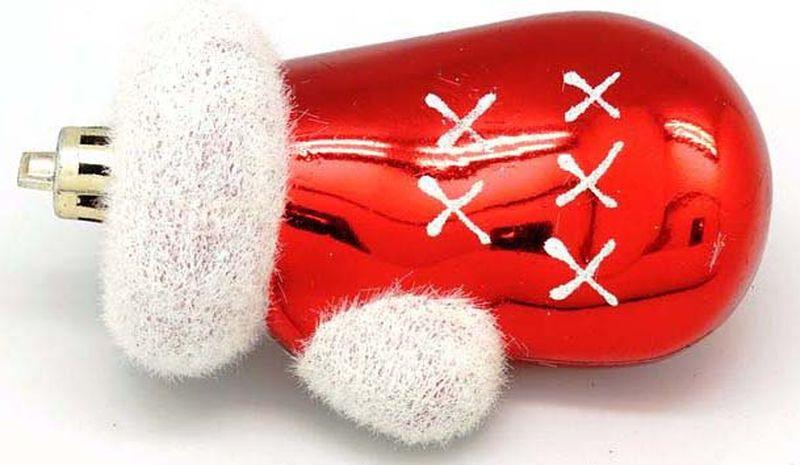 Подвесное украшение Яркий Праздник Варежки, цвет: красный, белый, 5 х 16 х 2 см подвесное украшение яркий праздник корона цвет красный 5 х 2 х 5 см