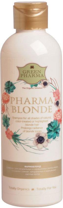 Greenpharma Шампунь Фармаблонд для натуральных и окрашенных светлых волос, 250 мл