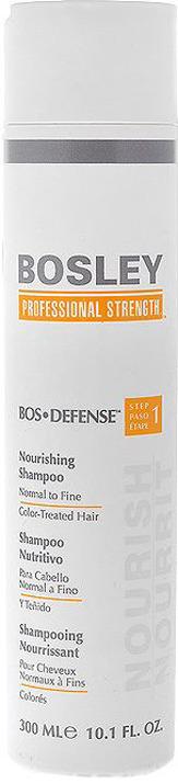 bosley шампунь питательный для нормальных тонких окрашенных волос 300 мл Bosley Шампунь питательный, для нормальных, тонких и окрашенных волос, 300 мл
