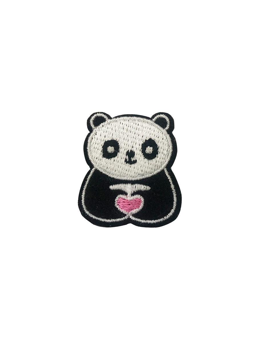 Самоклеящийся текстильный патч YSTICK Панда, (2,8х3,1см)