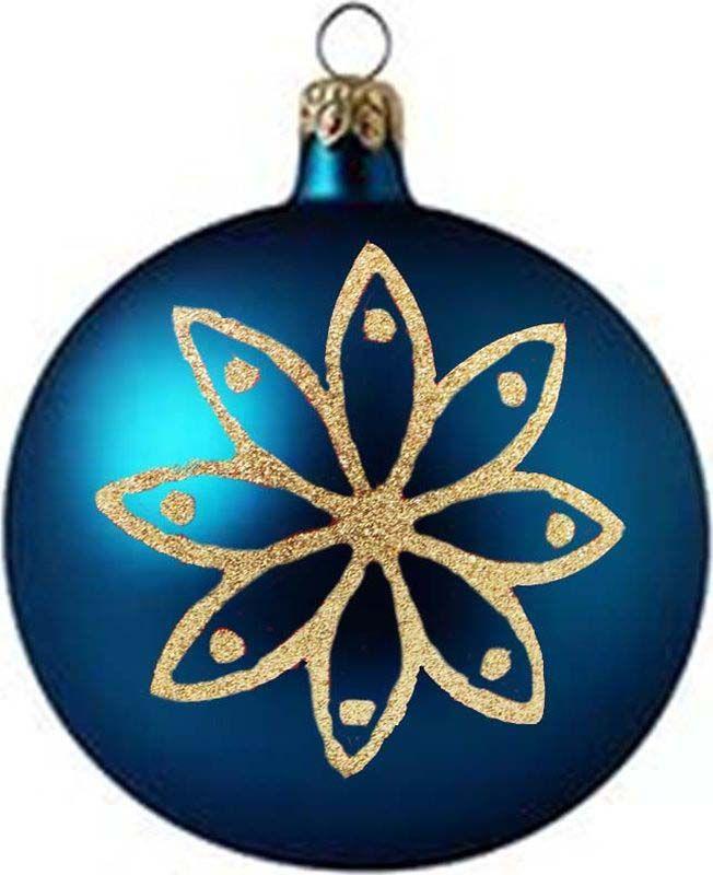 Набор елочных шаров Яркий Праздник, цвет: синий, серебристый, диаметр 6 см, 6 шт. 16544