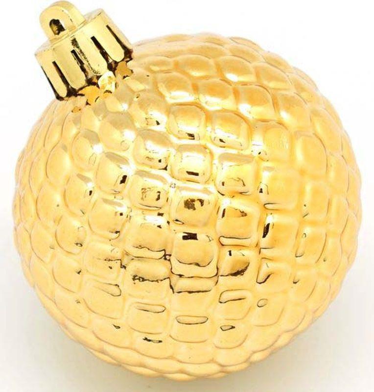 Набор елочных шаров Яркий Праздник, с рельефной поверхностью, цвет: матовый серебристый, золотистый, диаметр 6 см, 6 шт набор елочных шаров яркий праздник цвет зеленый золотистый диаметр 6 см 6 шт 16541