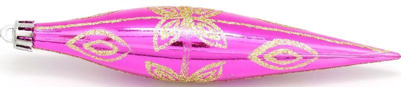 Подвесное украшение Яркий Праздник Сосулька, цвет: пурпурный, 14 х 5 х 5 см подвесное украшение яркий праздник корона цвет красный 5 х 2 х 5 см