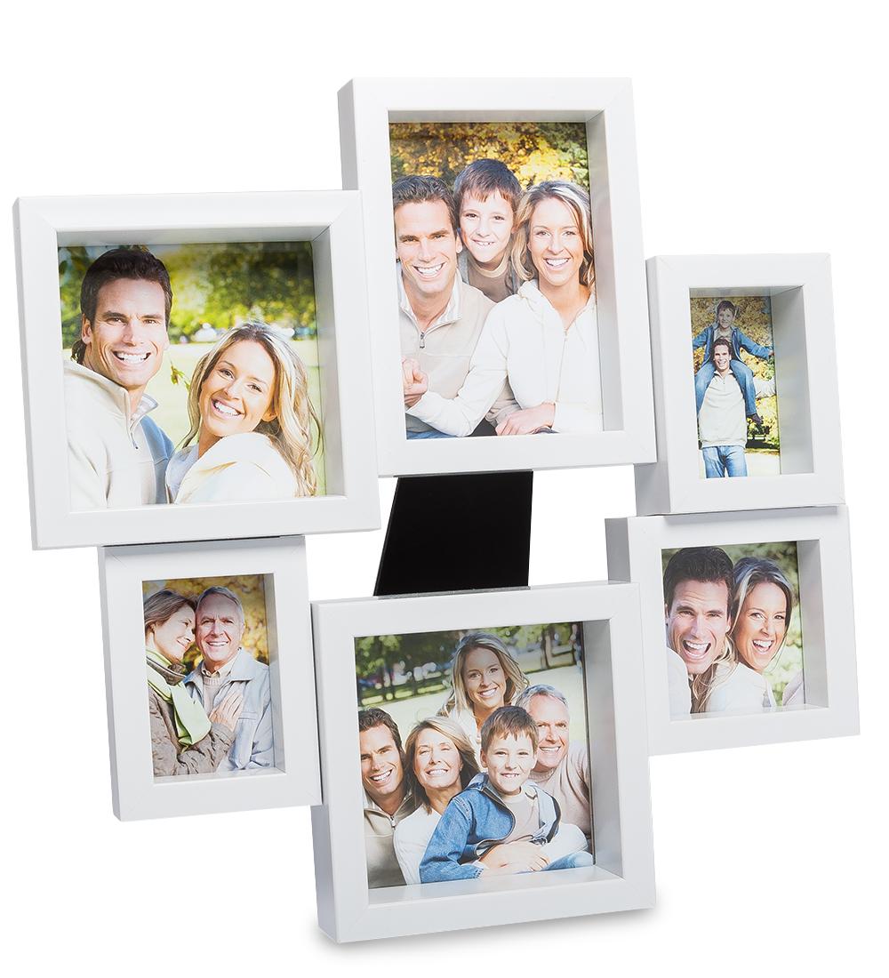 Панно из фоторамок Belezza Casa ''Семейная история'', на 6 фото: 9х13, 6х8, 7х7, 10х10 chk 213фоторамка панно хай тек на 6 фото