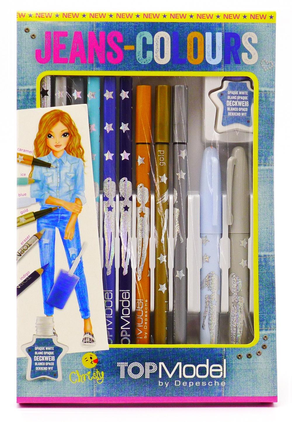 Набор для декорирования Depesche для рисования джинсов, 10008202 набор письменных принадлежностей depesche topmodel макияж candy 045675 005675