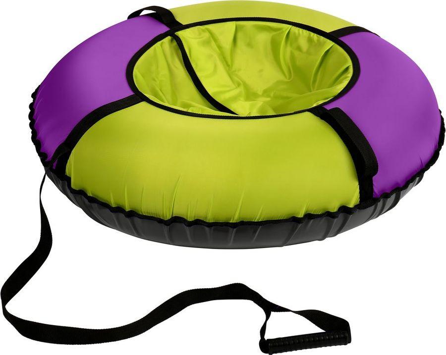 цена на Тюбинг Nika Kids ТБЭ-70/Л, 000379380001, салатовый, фиолетовый, черный, 70 см