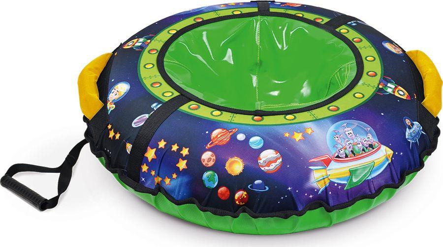 цена на Тюбинг Nika Kids ТБ3К-85, 000190640003, синий, зеленый, черный, 85 см