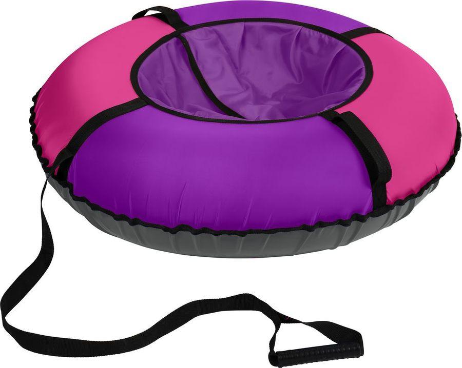 цена на Тюбинг Nika Kids ТБЭ-70/Л, 000379380002, фиолетовый, розовый, черный, 70 см