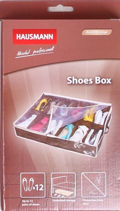 Чехол для хранения вещей Hausmann, для обуви, DV-201P, коричневый, 74,5 х 60 х 15 см цена в Москве и Питере