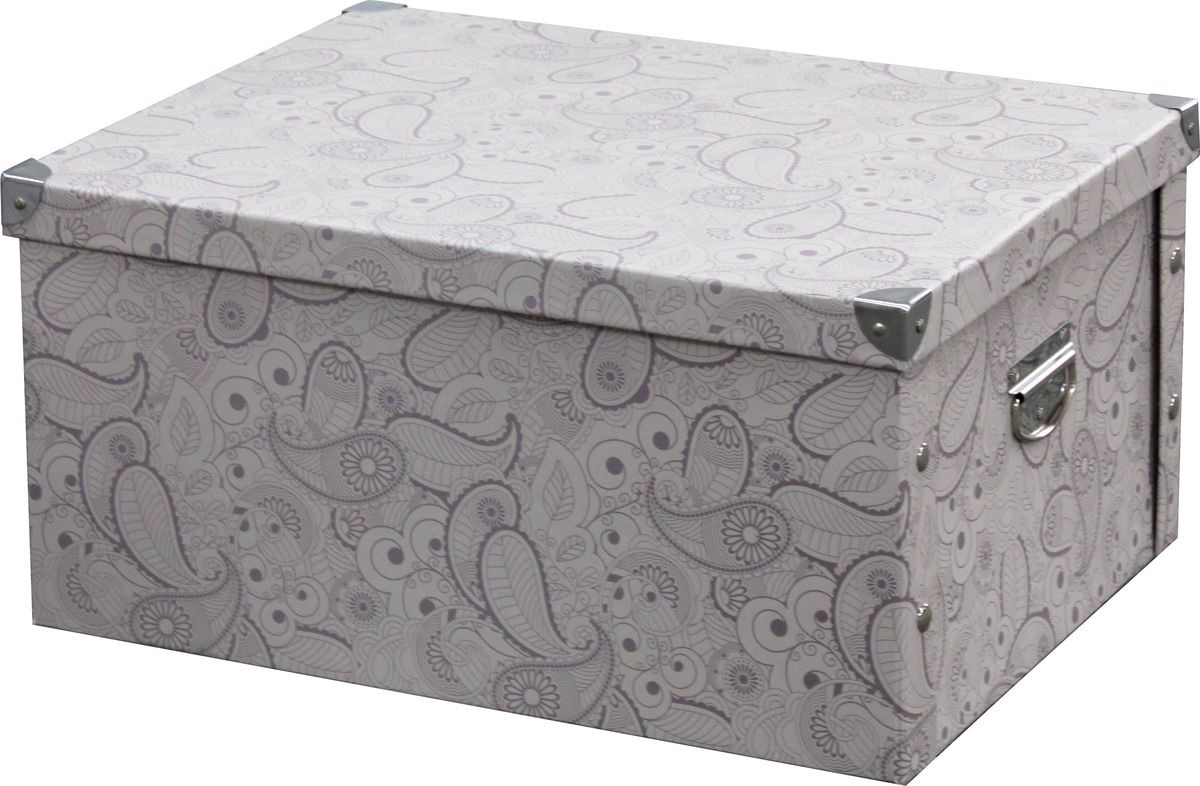 Коробка для хранения Hausmann HM-9744-2, складная, с уголками, 45 х 35 х 22.5 см коробка для хранения valiant travelling складная 25 х 33 х 18 5 см 2 шт