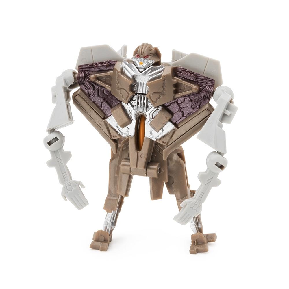 Робот-трансформер FindusToys Истребитель, FD-10-010, коричневый роботы education line roboblock робот герой xl 89 элементов