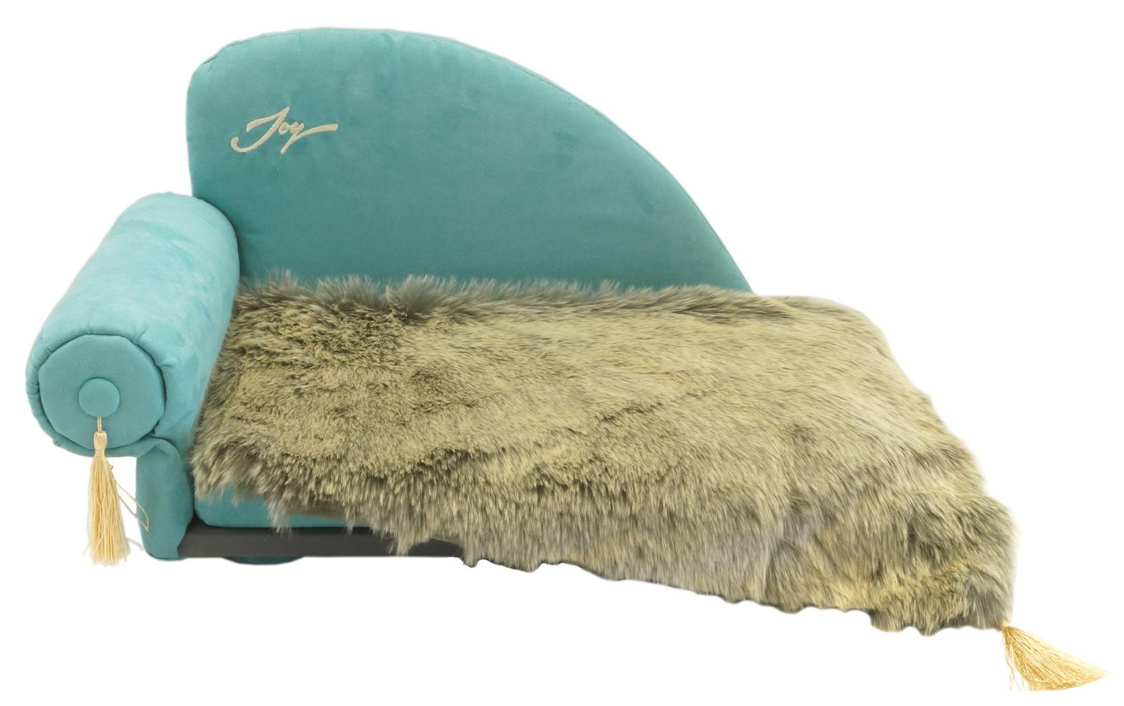 <b>Лежак для животных JOY</b> Диван с пледом 60х40х40см для собак ...