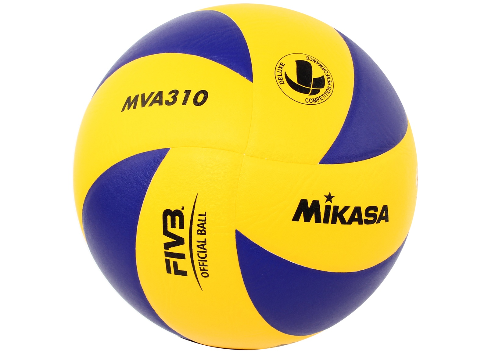 Мяч волейбольный Mikasa, MVA310, синий, желтый, размер 5 мяч волейбольный mikasa mva380k размер 5 сине желтый