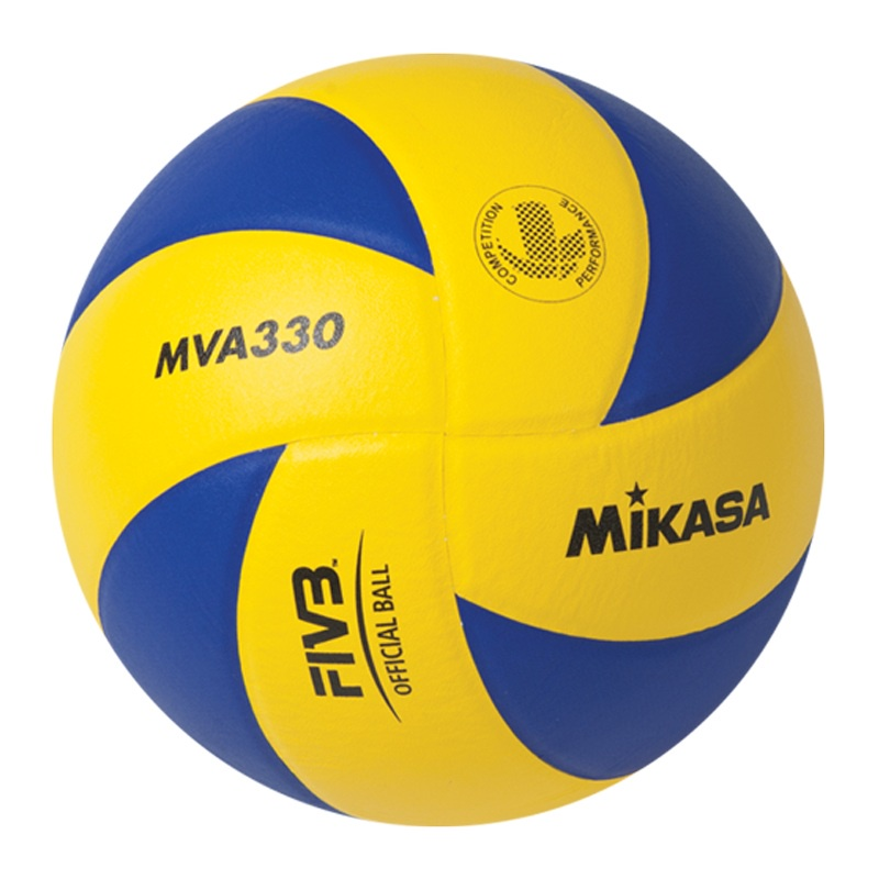 Мяч волейбольный Mikasa, MVA330, синий, желтый, размер 5 мяч для пляжного волейбола mikasa vxs zb b р 5