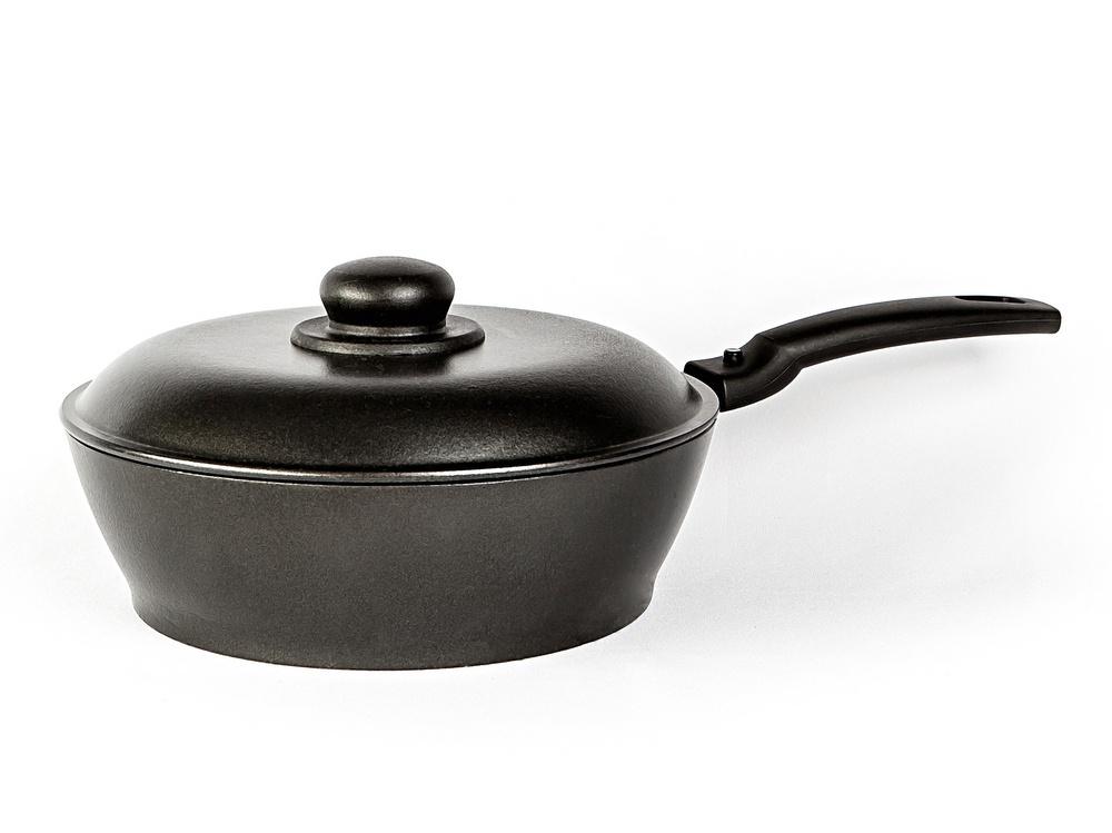 Сковорода Алита Надежда, 11001, черный, диаметр 24 см крышка алита с антипригарным покрытием диаметр 20 см