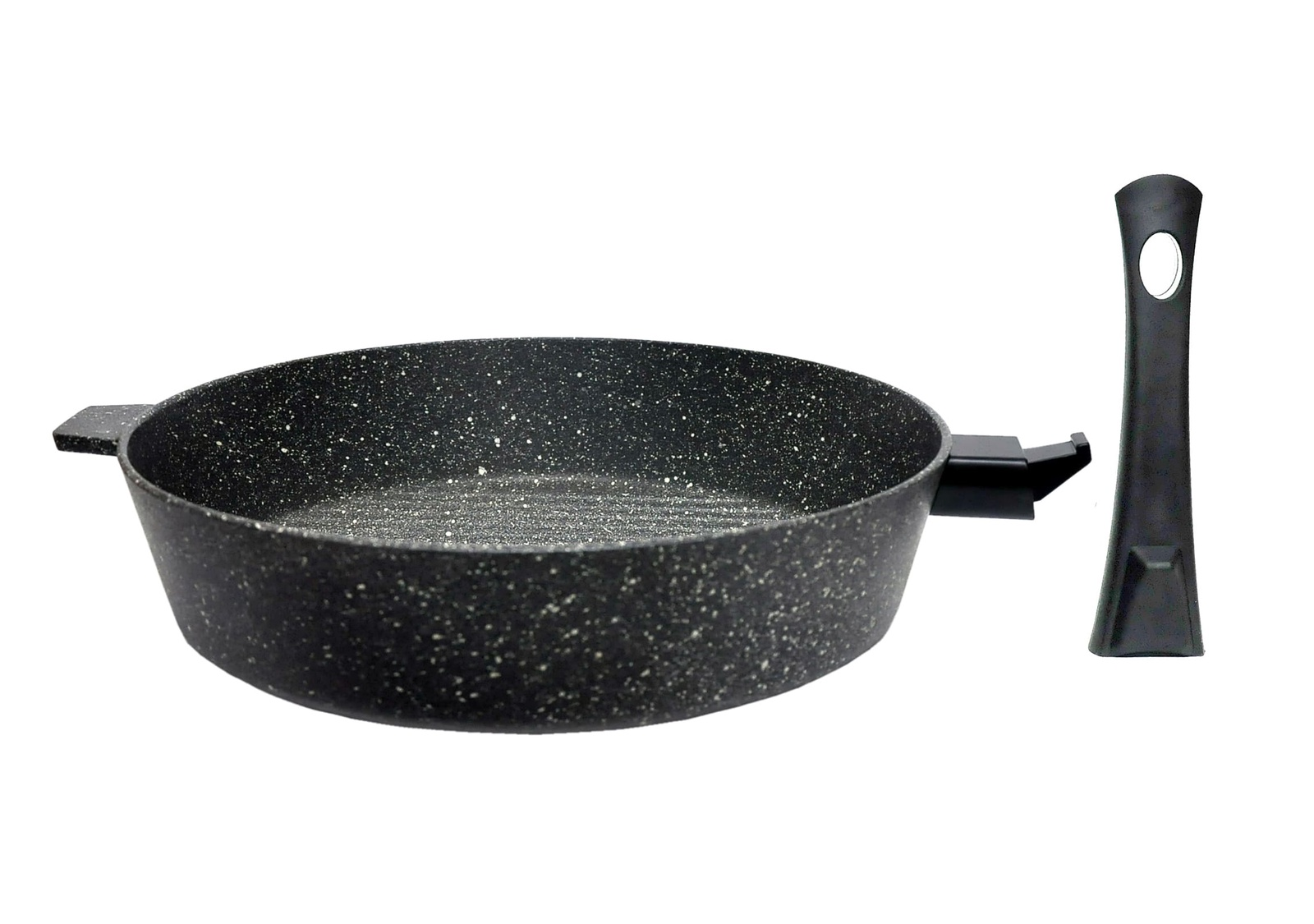 Сковорода алюминиевая Алита Гриль со съемной ручкой, 19502, мрамор, 26 х 6,0 х 0,6 см сковорода алюминиевая алита гриль со съемной ручкой 19702 черный мрамор 28 х 6 5 х 0 6 см