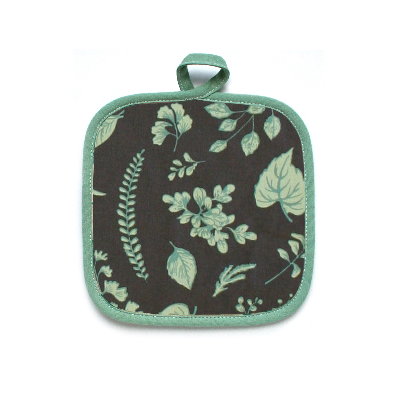 Прихватка Bonita Ботаника, 15010818033, черный, зеленый, 18 х 18 см фартук кухонный bonita ботаника 14010818037 черный зеленый 65 х 75 см