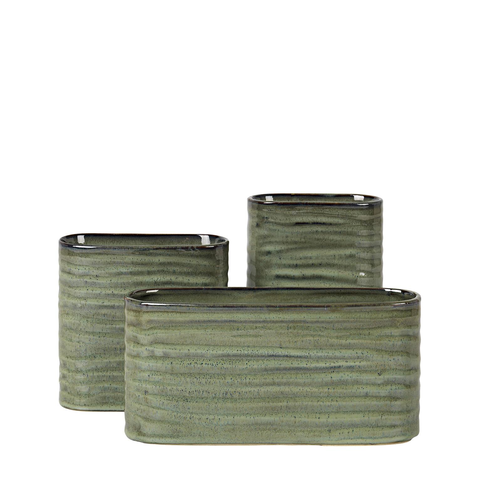 Набор ваз Broste ATIL, 15500292, керамика, зеленый, 3 шт трусы doness 134 140 dns 10 1006 светло зеленый светло зеленый 134 140 32 размер