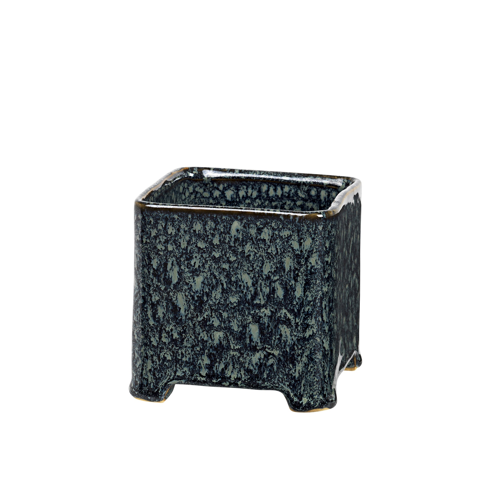 Горшок для цветов Broste Annie, 15500278, темно-синий, 10х10х10,5 см цена