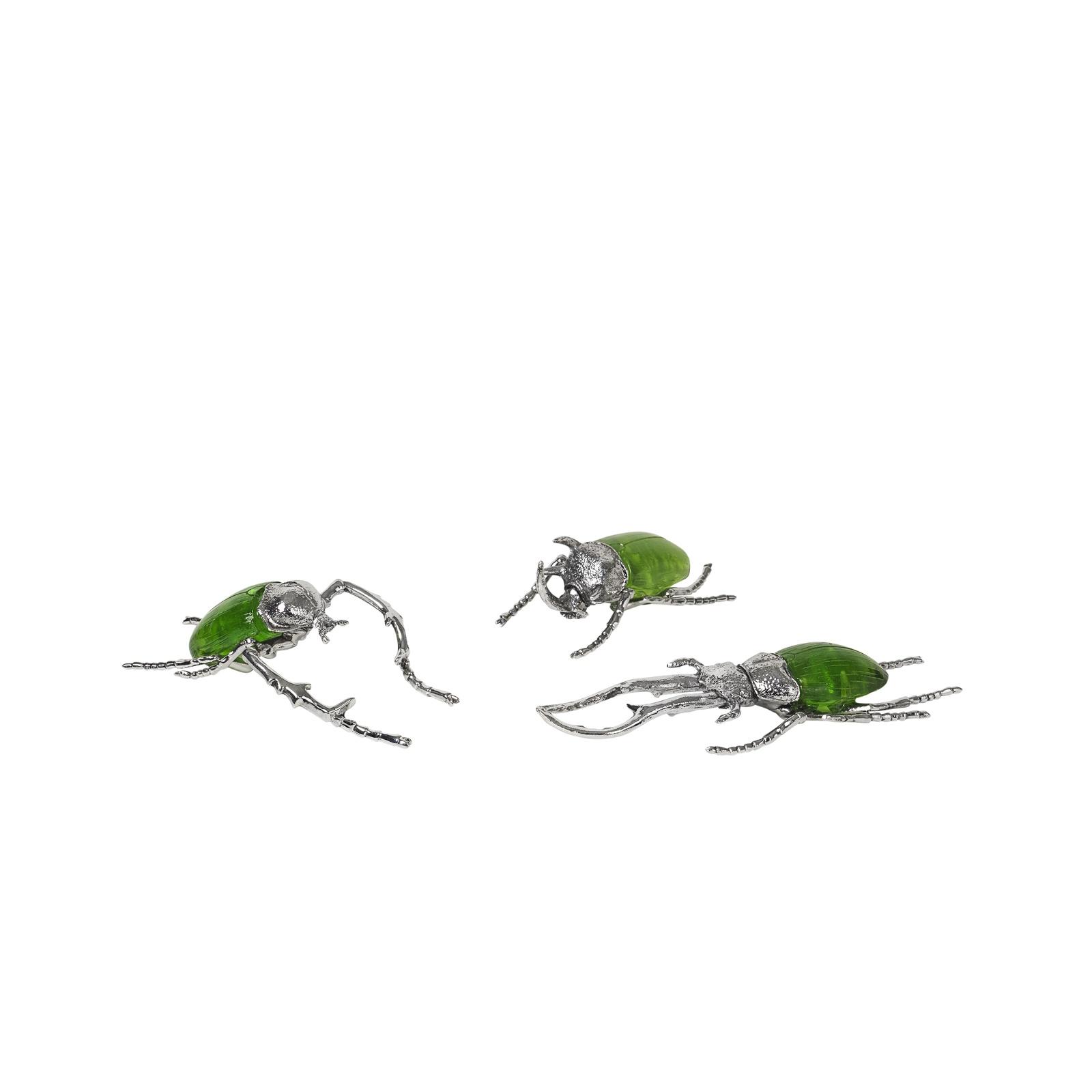 Набор декоративных элементов Broste INSECTS, 14461169, зеленый, серебряный, 3 шт комплект термобелья мужской серебряный пингвин лонгслив кальсоны цвет черный с 6051 к размер 48