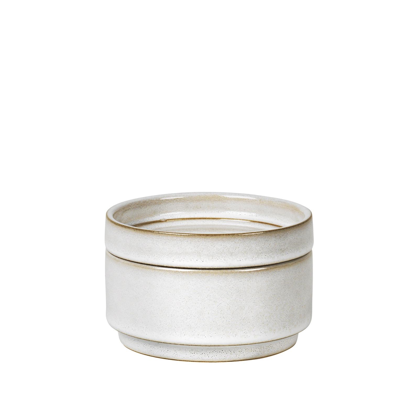 Шкатулка Broste Annie, 15500274, керамика, белый, 12 х 12 х 7.5 см цена